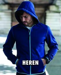 Fleece vest heren