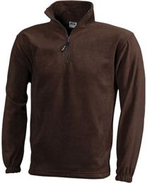 James & Nicholson Half Zip Fleece Heren