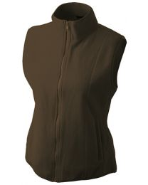 James & Nicholson Microfleece Bodywarmer Dames