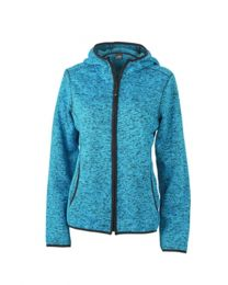 James & Nicholson Knitted Fleece Hoody Dames