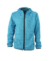 James & Nicholson Knitted Fleece Hoody Heren