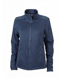 James & Nicholson Gebreide Fleece Jas Dames