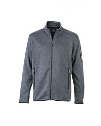 James & Nicholson Knitted Fleece Jacket Heren