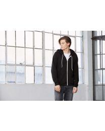 Fleece full zip hoodie, uni.