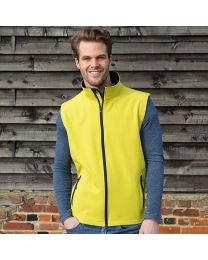Softshell bodywarmer Heren.