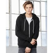 Zip-Up Poly-Cotton Fleece Hoodie, uni.